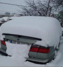 Mycket snö med Daniel i Rumänien!