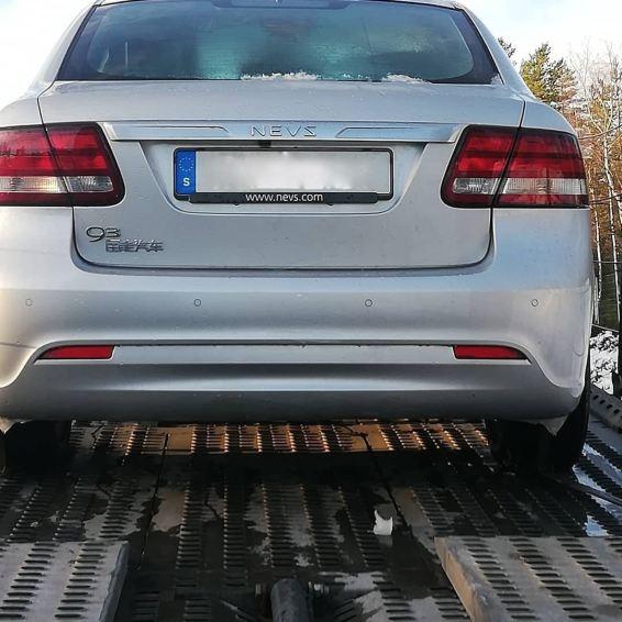 Alter Bekannter. Ein 2018er 9-3 Elektroauto von NEVS.
