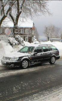 De 2000 Aero uit Berend bij Hannover in de sneeuw