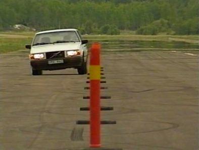 Um 740 GLT na pista de teste. A Volvo tem talento como artista de curvas?