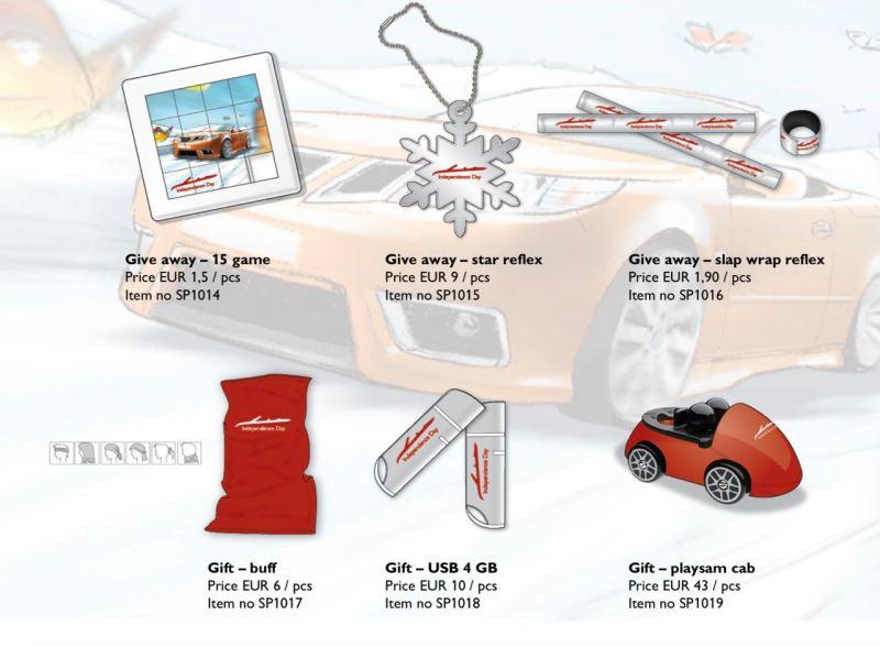 Für das Gemüt. Merchandise Saab Independence Day.