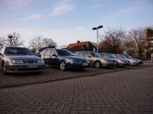A frota da família Saab