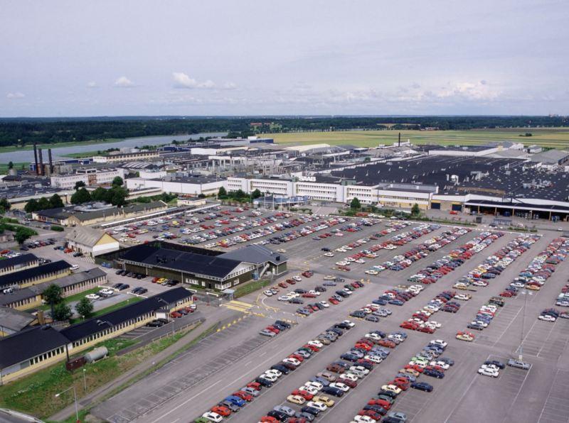 Planta Saab en Trollhättan en los años 80