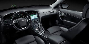 Saab cockpit with line speedometer and HUD
