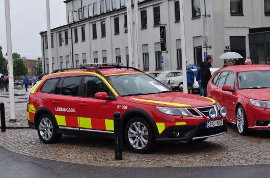 Fire service command car based on Saab 9-3x