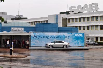 Entrada principal da fábrica da Saab
