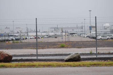 Área de entrega na fábrica em julho de 2010