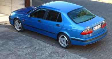 Saab 9-5 V6 en azul cielo