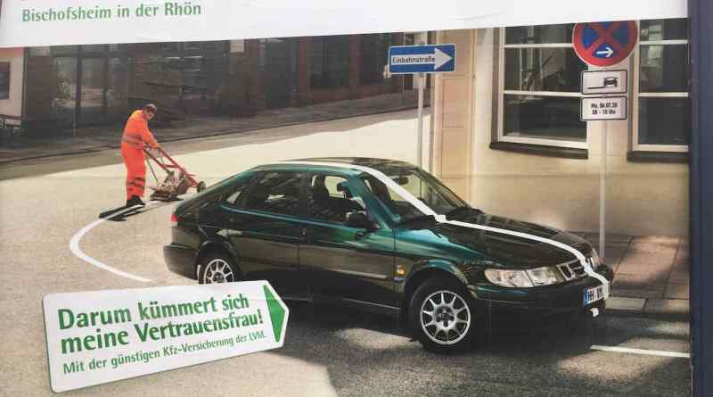 LVM Versicherung advertises the Saab 900 II