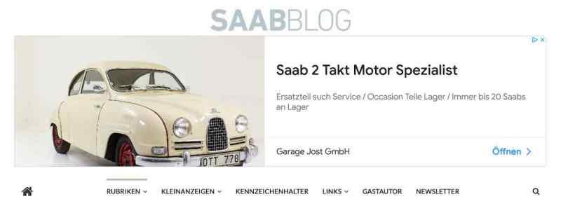 Publicité Google avec Saab