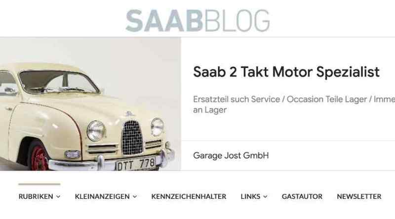 Google Werbung mit Saab
