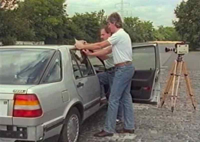 Saab testet ABS auf dem Teves Gelände