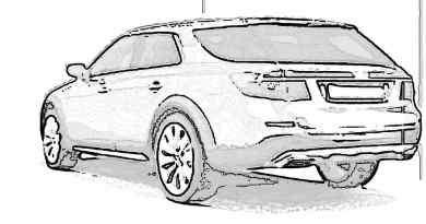 Saab 9-5X XWD sportdräkt