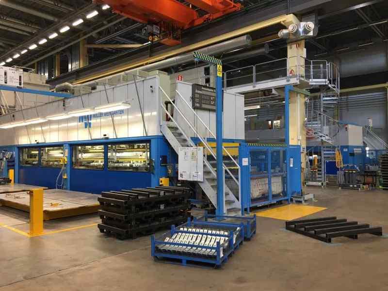 Blick in die Trollhättan Fabrik - hier wurden Saab gebaut