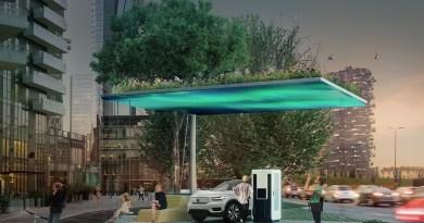 Schnellladestation von Volvo für zwei E-Autos