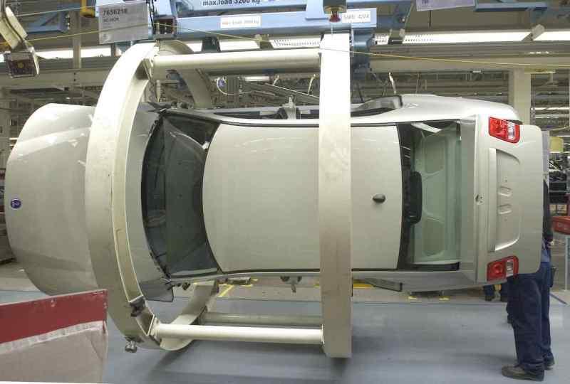Productie in de Saab-fabriek