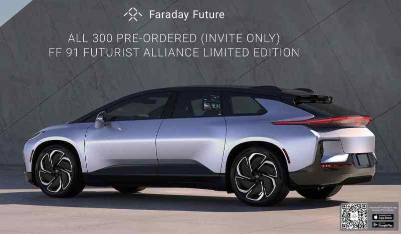 Faraday Future - a primeira edição de 300 exemplares esgotou
