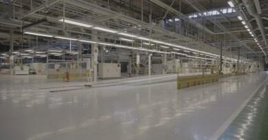 Antigua fábrica de Saab - línea de producción