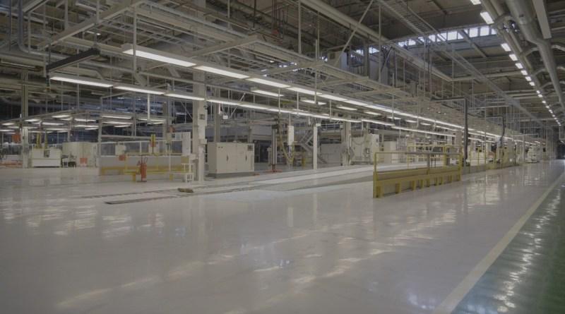 Ex fabbrica Saab - linea di produzione