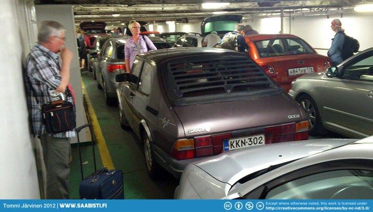 On the ferry: Silja Europa car deck.