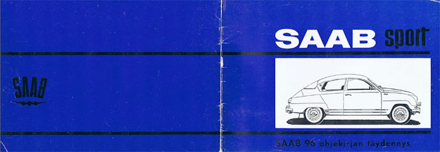 Saab Sport handbooks 1964 to 1965 – Finnish and Swedish only
