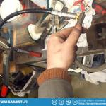 A two stroke brake hose is attached to the nipple-fitting.