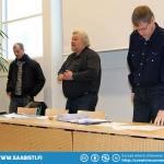 "Board members of the Saab Club Of Finland: Tomi ""Tikkis"" Tikanmäki, President Juha Lehtonen, and Vesa Lindeman."