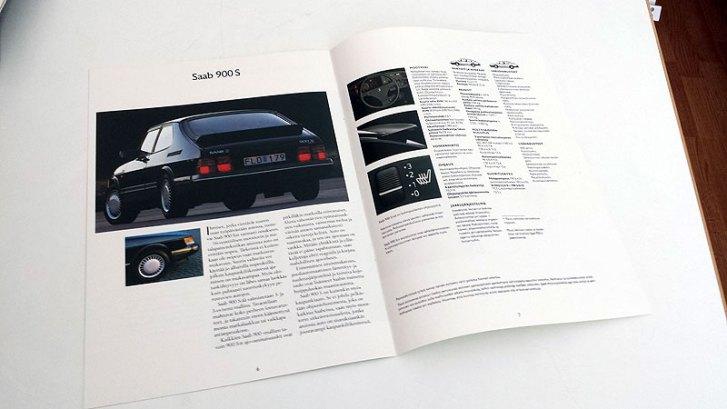Saab 900 S 1990. A4 8s. 5 €.
