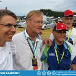 And here's Ari Vatanen and Simo with some sponsors.