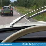 And ofcourse there were plenty of opportunities to spot rally cars on the open road also as they were making their way back to Jyväskylä.