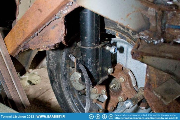 Closeup of the suspension.