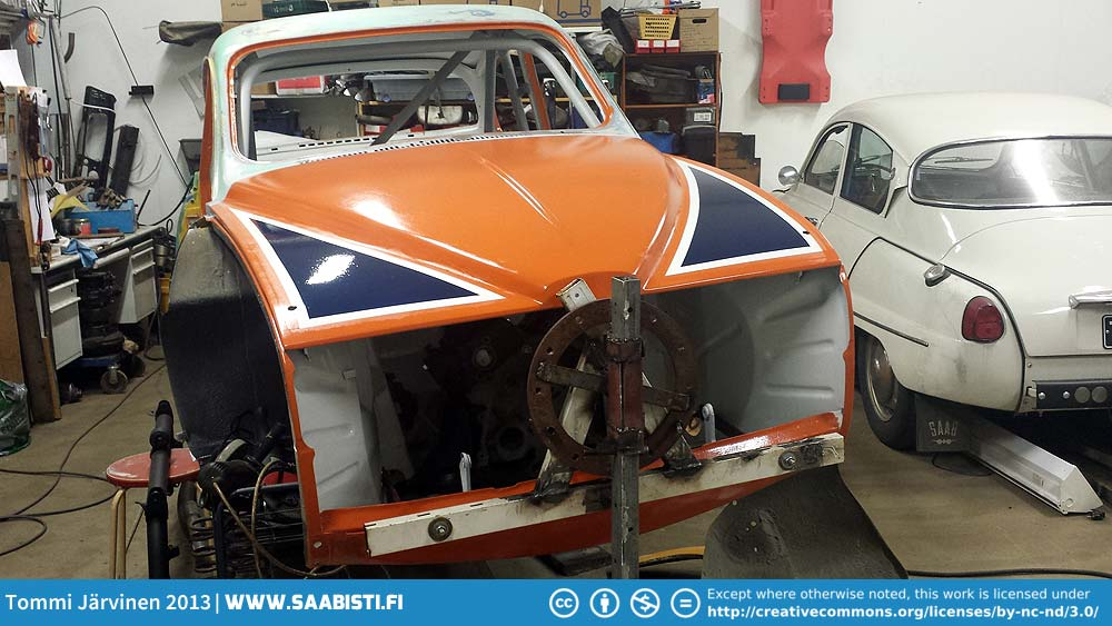 Saab V4 Rally – Some new paint