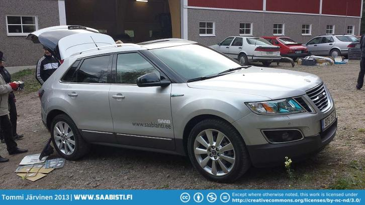 Saab 9-4x is a rare visitor.