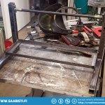 The valve bench frame welded.