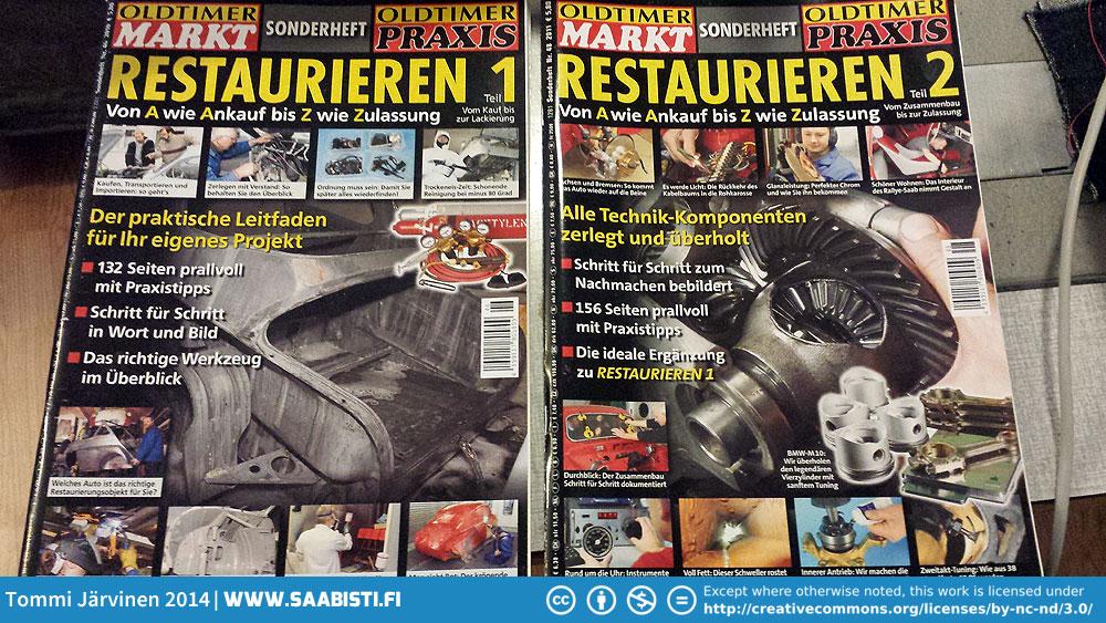 Oldtimer Praxis Saab 96 Restoration magazines