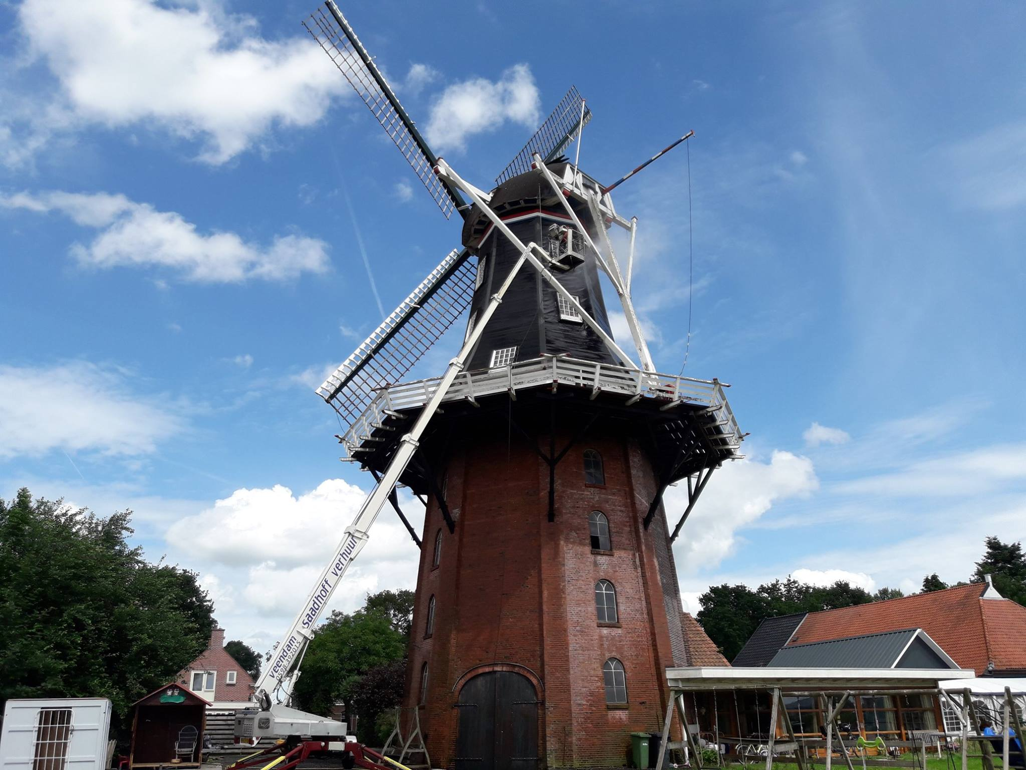 Korenmolen Schoonmaak Kolham Provincie Groningen Saadhoff BV Veendam Wildervank