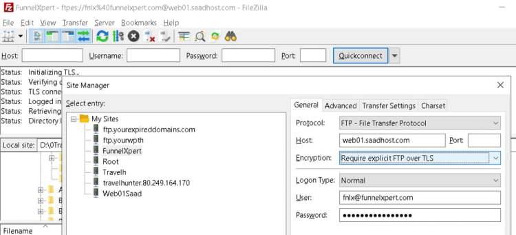 FTPES FileZilla