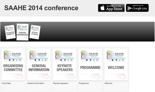 Conference content is available through the browser, as well as through the app.