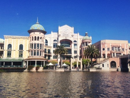 view of Canal Walk from the boat