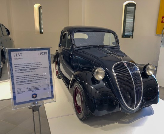 vintage Fiat 1939 displayed at the franschhoek motor museum