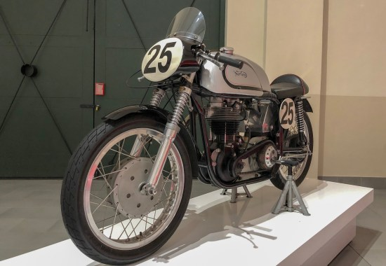 motor bike exhibited at the franschhoek motor museum
