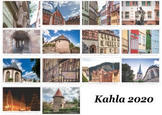 Übersicht Kalender Kahla 2020