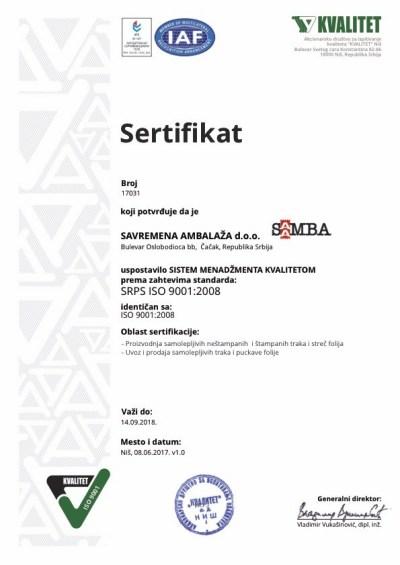 QMS-17031-v1.0-Savremena-ambalaža-9001