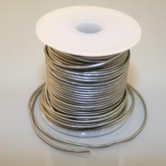 Leather Cord - Metallic Silver