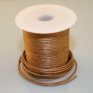 Leather Cord - Metallic Golden Brown