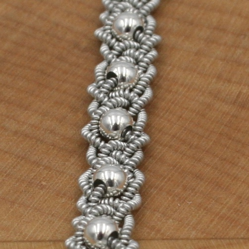 Silver Bead Braid Style