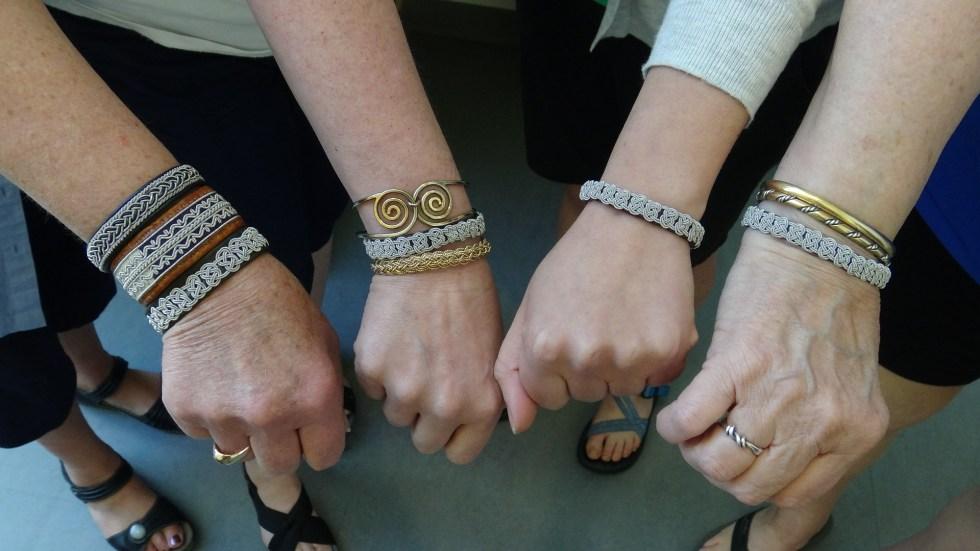 Finished Viking Posament Bracelets