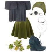 skater skirt and beanie