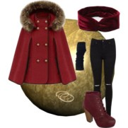 cozy maroon in winter