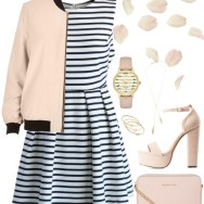 stripes and pastel pink